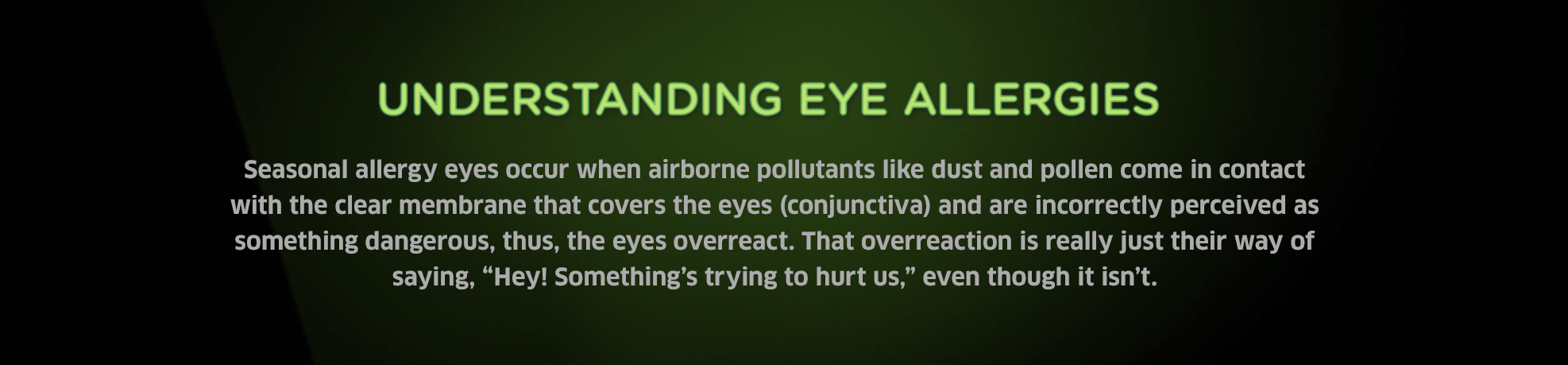 What Causes Eye Allergies?
